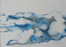 Blue clouds - 33 X 25