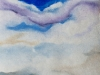 Violet cloud - 21 X 22