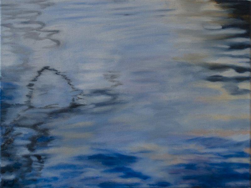 Studie van reflecties in het water 2 - 30 X 40