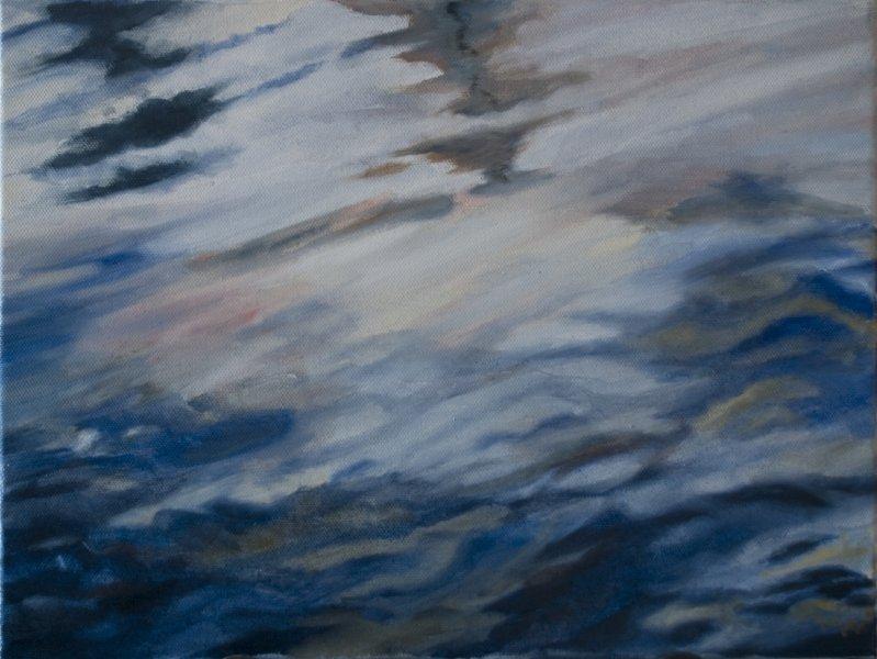 Studie van reflecties in het water 3 - 30 X 40
