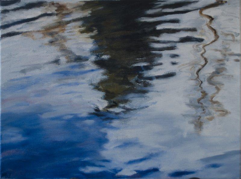 Studie van reflecties in het water 4 - 30 X 40